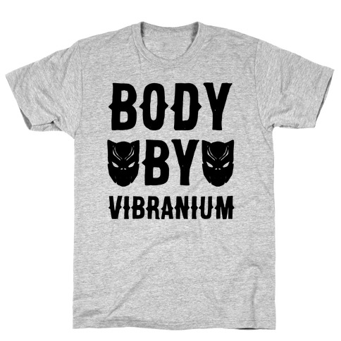 Body By Vibranium Parody Mens T-Shirt