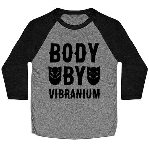 Body By Vibranium Parody Baseball Tee