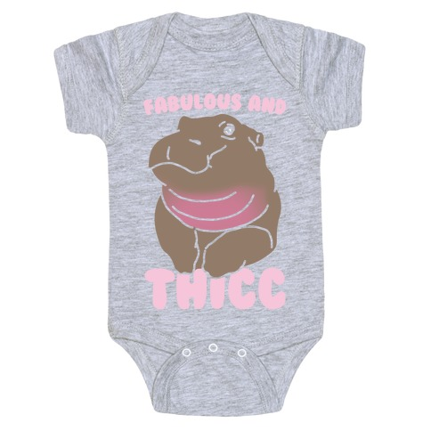 Fabulous and Thicc White Print Baby Onesy