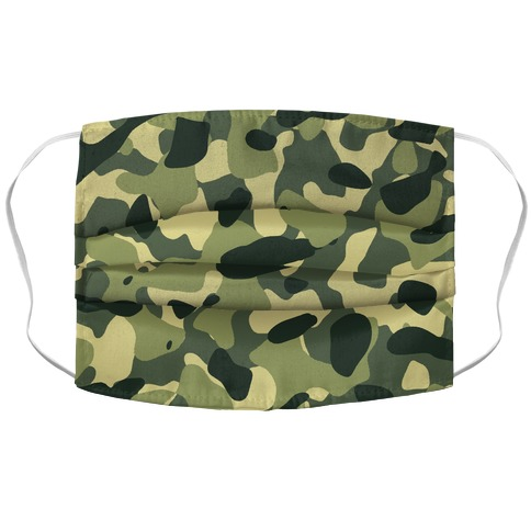 Camo Pattern Accordion Face Mask