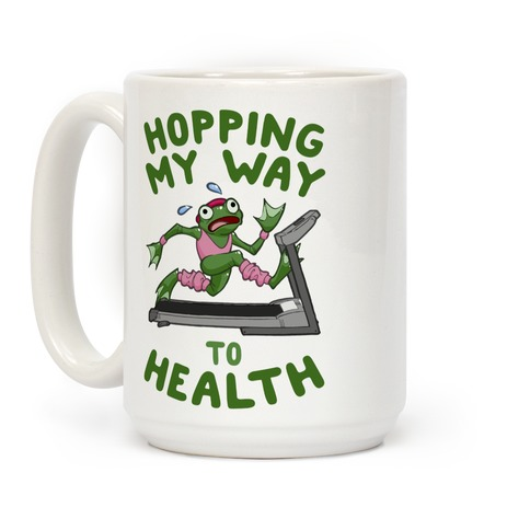 Hopping My Way To Health Coffee Mug
