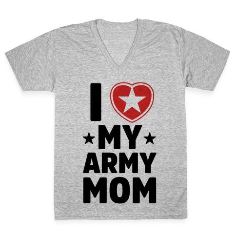 b7e2a735 I Love My Army Mom V-Neck Tee | Merica Made