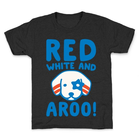 Red White and Aroo White Print Kids T-Shirt