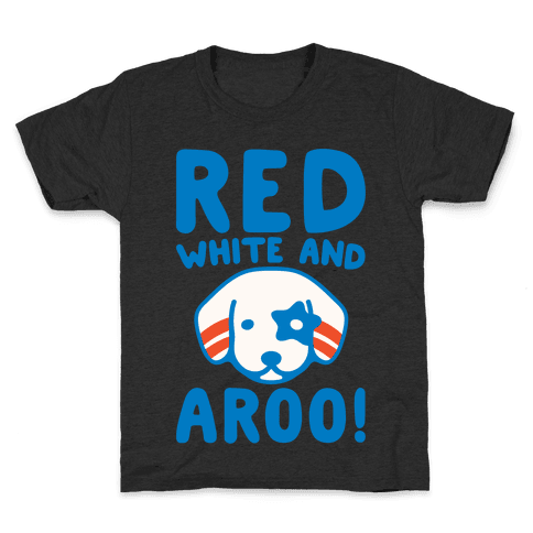 Red White and Aroo White Print Kids T-Shirt