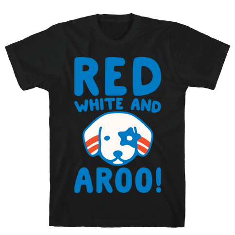 Red White and Aroo White Print Mens/Unisex T-Shirt