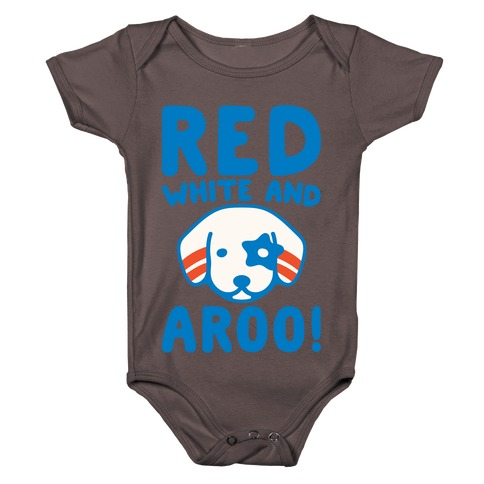 Red White and Aroo White Print Baby One-Piece