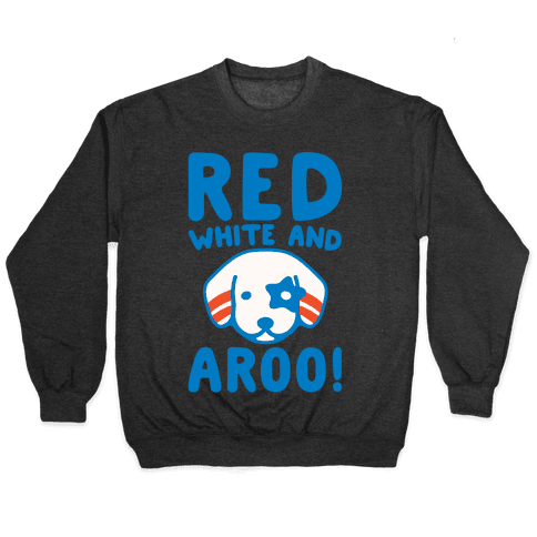 Red White and Aroo White Print Pullover