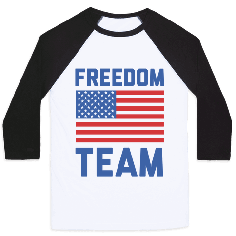Freedom Team (cmyk) Baseball Tee