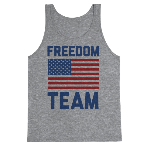 Freedom Team (cmyk) Tank Top