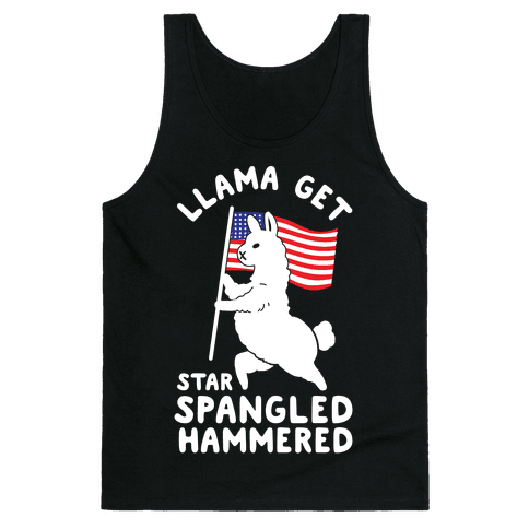 Llama Get Star Spangled Hammered Tank Top