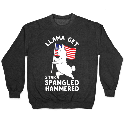 Llama Get Star Spangled Hammered Pullover