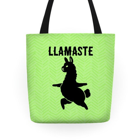 Llamaste Yoga Llama Tote