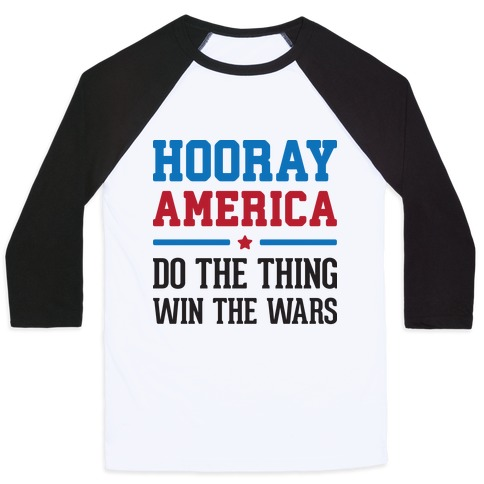 Hooray America Baseball Tee