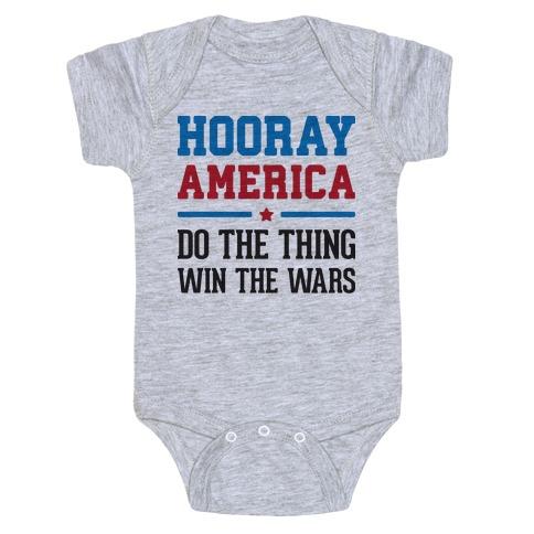 Hooray America Baby Onesy