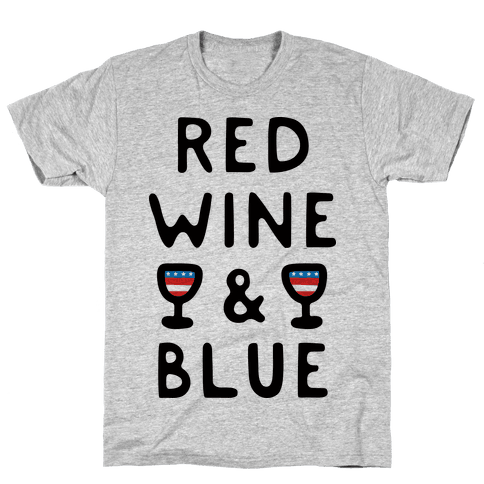 Red Wine And Blue Mens T-Shirt