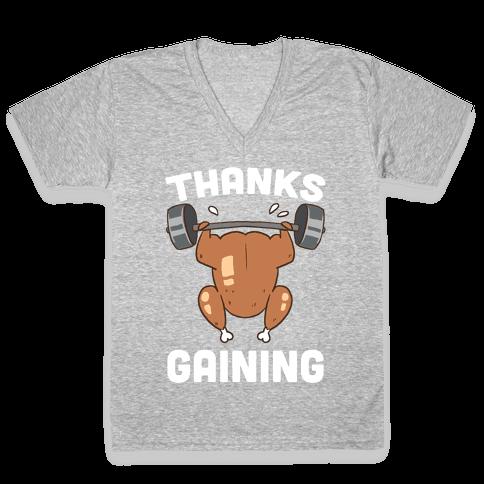Thanksgaining V-Neck Tee Shirt