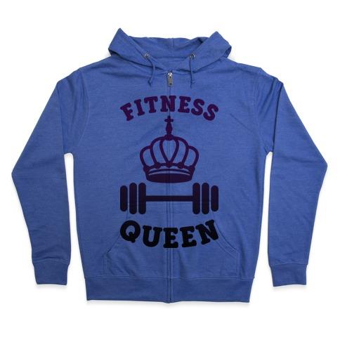 Fitness Queen Zip Hoodie