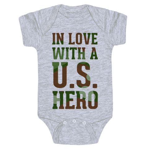In Love With a U.S. Hero Baby Onesy