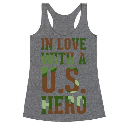 In Love With a U.S. Hero Racerback Tank Top