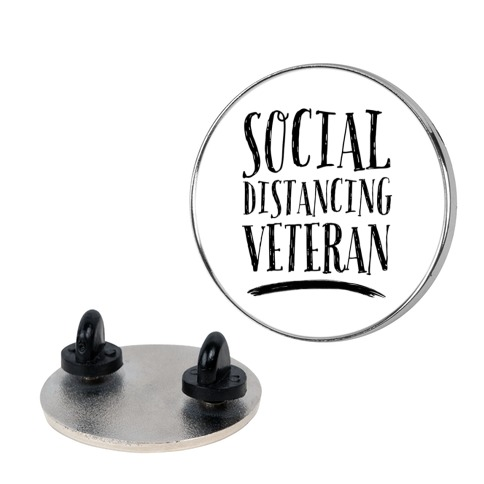 Social Distancing Veteran Pin