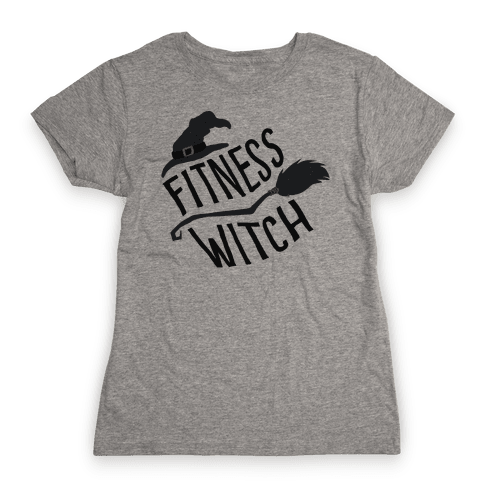 Fitness Witch Womens T-Shirt