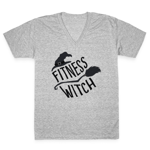 Fitness Witch V-Neck Tee Shirt