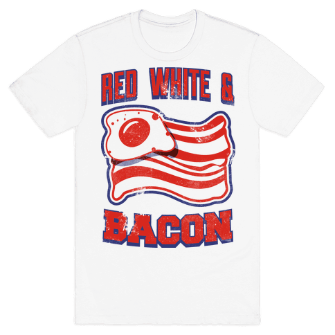 Red White and Bacon (tank) Mens T-Shirt