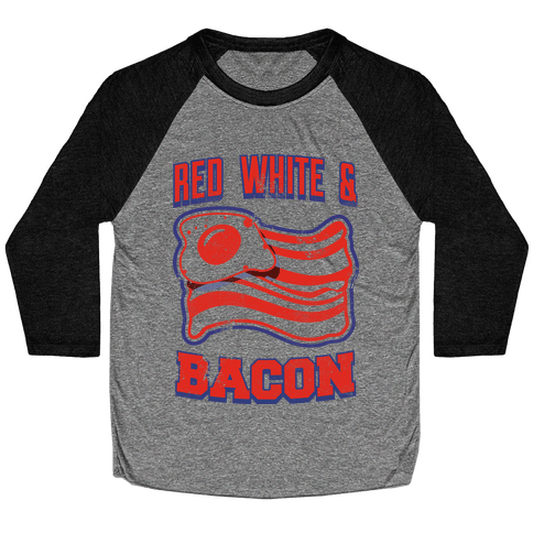 Red White and Bacon (tank) Baseball Tee