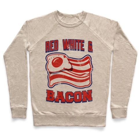 Red White and Bacon (tank) Pullover