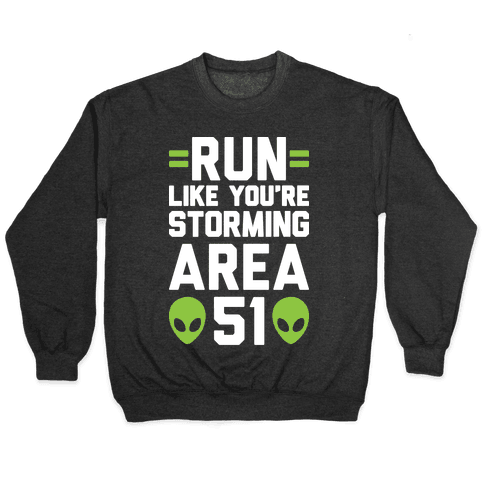 Run Like You're Storming Area 51 Pullover