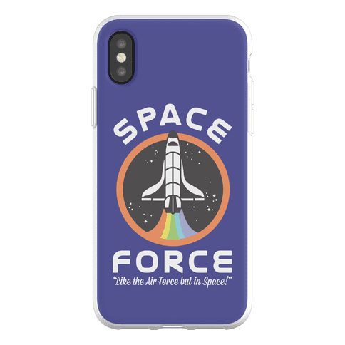 Space Force Like the Air Force But In Space Phone Flexi-Case