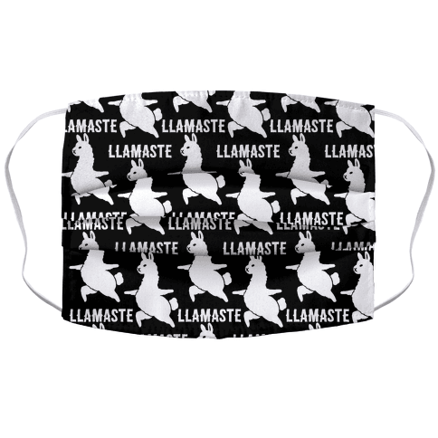 Llamaste Yoga Llama Accordion Face Mask