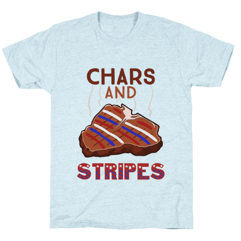 Chars And Stripes Mens/Unisex T-Shirt