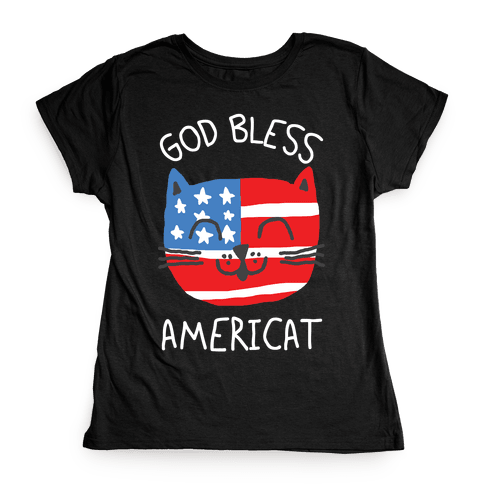 God Bless Americat Womens T-Shirt