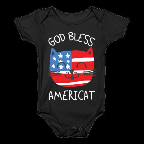 God Bless Americat Baby Onesy