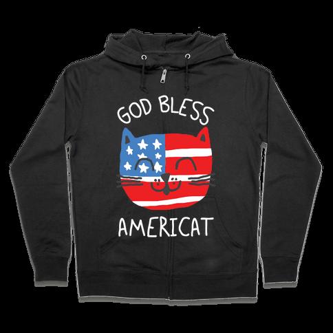 God Bless Americat Zip Hoodie