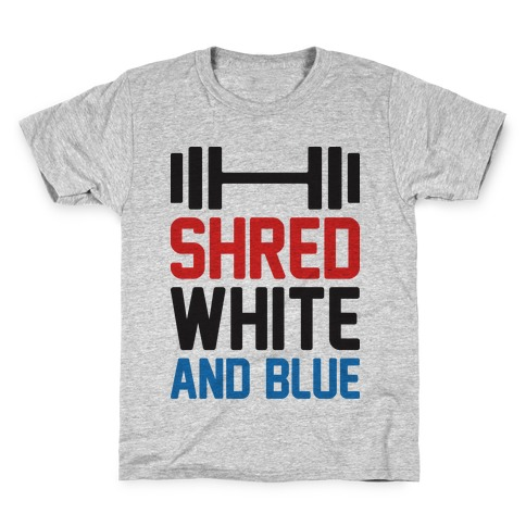 Shred White And Blue Kids T-Shirt