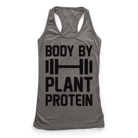 Body By Plant Protein Racerback Tank Top