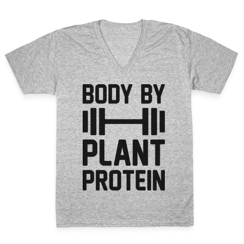 Body By Plant Protein V-Neck Tee Shirt