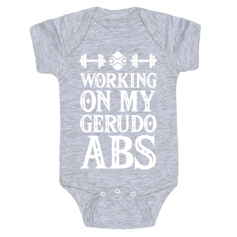 Working On My Gerudo Abs Baby Onesy