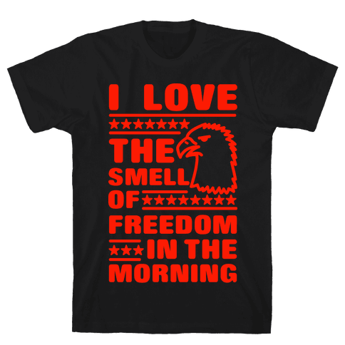 I Love The Smell Of Freedom Red Mens T-Shirt