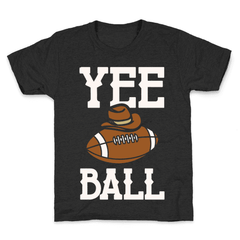 Yee Ball (Football) White Print Kids T-Shirt