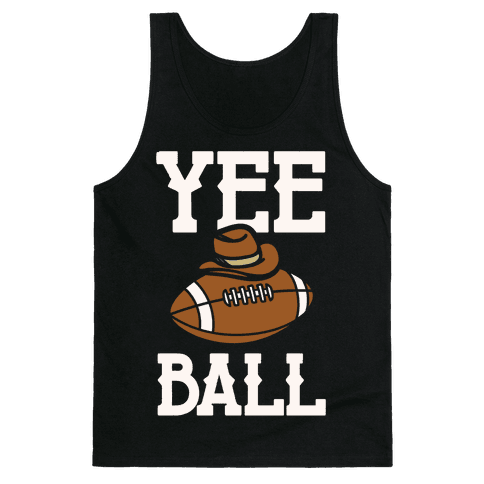 Yee Ball (Football) White Print Tank Top