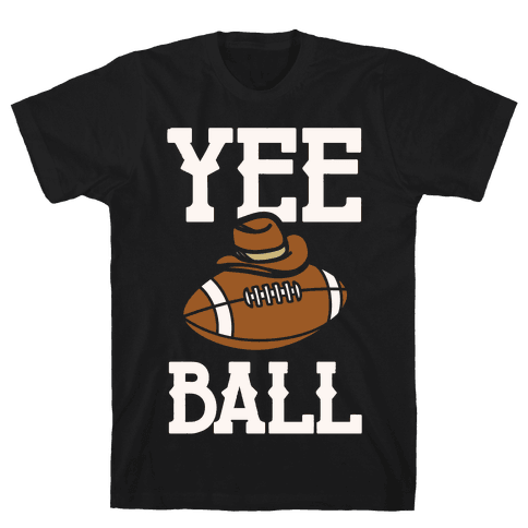 Yee Ball (Football) White Print Mens/Unisex T-Shirt