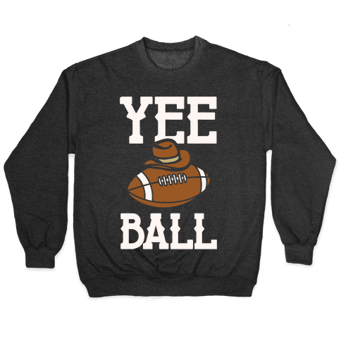 Yee Ball (Football) White Print Pullover