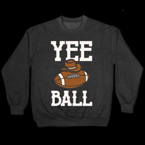 Yee Ball (Football) White Print Pullover