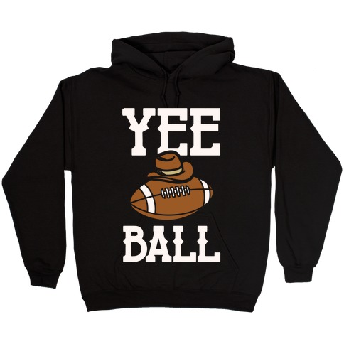 Yee Ball (Football) White Print Hooded Sweatshirt