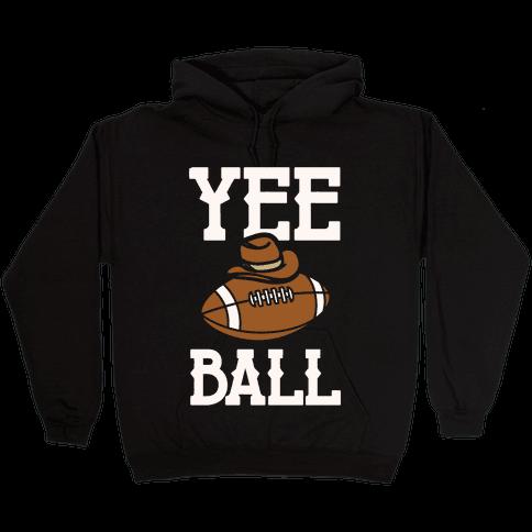 Yee Ball (Football) White Print Hooded Sweatshirt