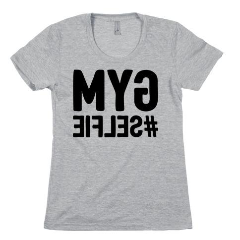Gym Selfie Womens T-Shirt