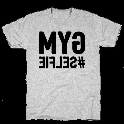 Gym Selfie Mens T-Shirt